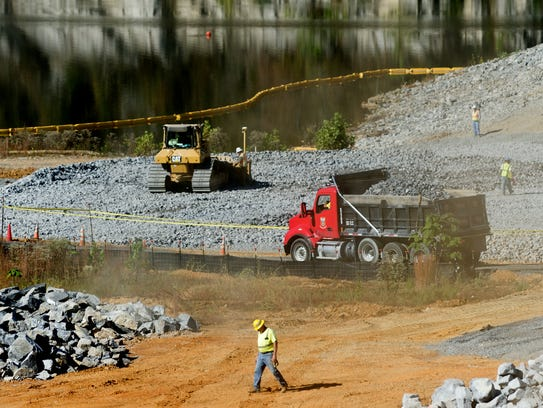 Construction continues at Boone Dam outside of Kingsport,