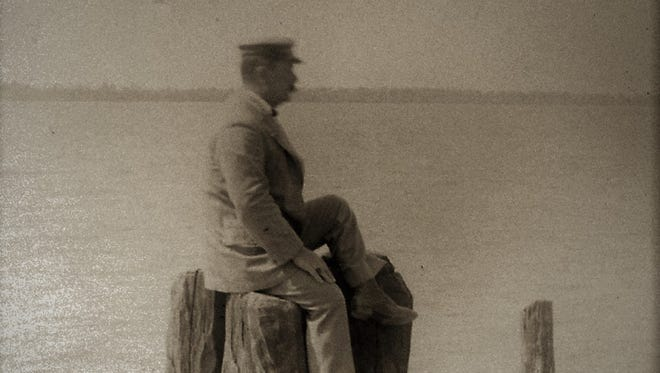 William McFarlan along the St. Lucie River in 1905.