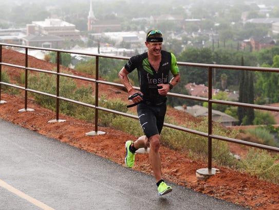 Lionel Sanders won the 2016 Ironman 70.3 St. George.