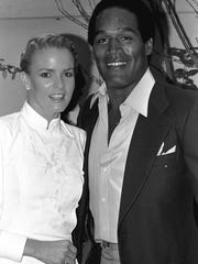 Simpson with the late Nicole Brown in 1980.