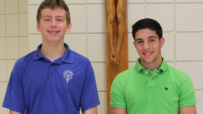 George Ghazala, a junior at Covington Catholic, right, and Joe Niehaus, a sophomore, are selected for the Kentucky Governor's School for Entrepreneurs.