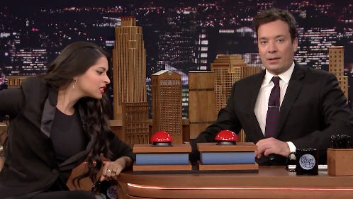 Lilly Singh: 1, Jimmy Fallon: 0.