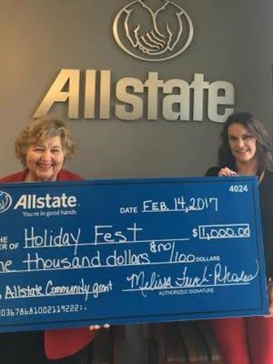 Lynda Evjen, founder of HolidayFest, left, and Melissa French-Rhodes, owner of the Allstate agency Sumner Insurance Group.