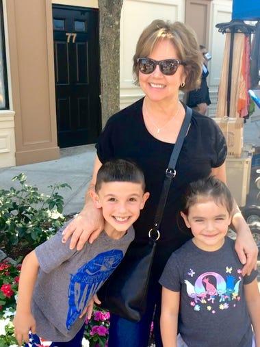 Lorraine Stocks and 2 of her grandchildren enjoying
