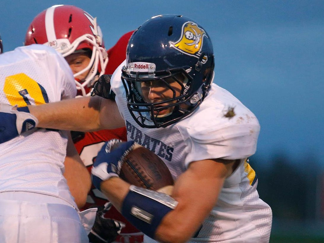 Pewamo-Westphalia junior Jared Smith has set the state record for rushing TDs in a season and is near the record for rushing yards.