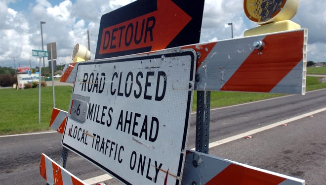 The northbound left lane of the U.S. 90 railroad overpass in Broussard will be closed Friday from 8 p.m. until 6 a.m while crews prepare for construction of a new, wider overpass.