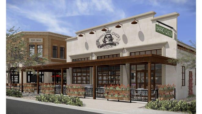 Rendering of Barrio Queen in Gilbert, scheduled to open in February 2015.