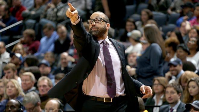 Memphis Grizzlies head coach David Fizdale coaches his team against the Milwaukee Bucks at FedExForum.