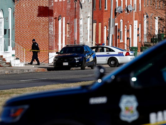 AP BALTIMORE OFFICER SHOT A USA MD