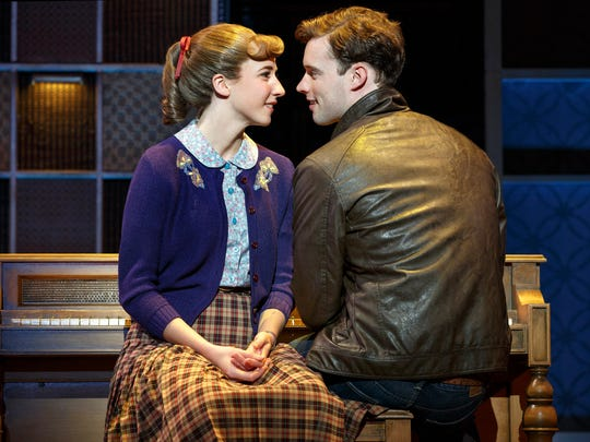 """Julia Knitel plays Carole King and Liam Tobin plays her husband/songwriting partner Gerry Goffin in """"Beautiful – The Carole King Musical,"""" playing through May 14 at the Aronoff Center as the final show of the 2016-2017 Broadway in Cincinnati series."""