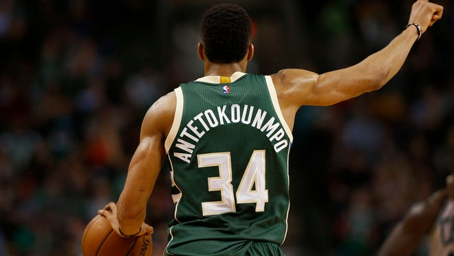 Giannis Antetokounmpo's jersey is No. 9 in sales among NBA players this season.