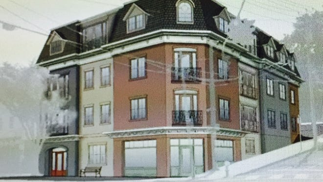 The proposed new building at 78 Main St. in Dobbs Ferry