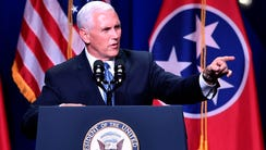 Vice President Mike Pence speaks during the Tennessee