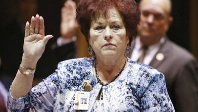 State Sen. Sylvia Allen, R-Backwoods, swears never again to provide meaty Youtube fodder to mean-spirited fellow lawmakers