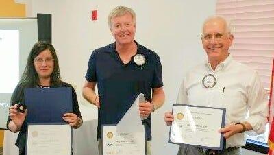 From left, Maggie Veeder, Joe Heidrick, and Peter Herzburg.