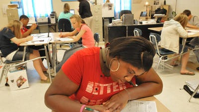 Petal students take the state test in 2009.