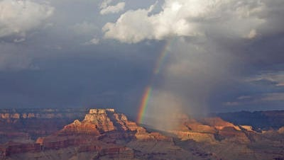 Rainbow over Shoshone Point in the Grand Canyon