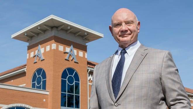 Executive Director and Senior Vice President David M. Joyner, M.D., poses outside of the Andrews Institute for Orthopaedics & Sports Medicine in Gulf Breeze on Thursday.