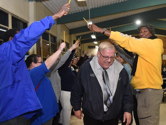 Park Vista Elementary celebrates American Education Week and honors Principal Ulyese Joubert on his 50 years as an educator in St. Landry Parish.