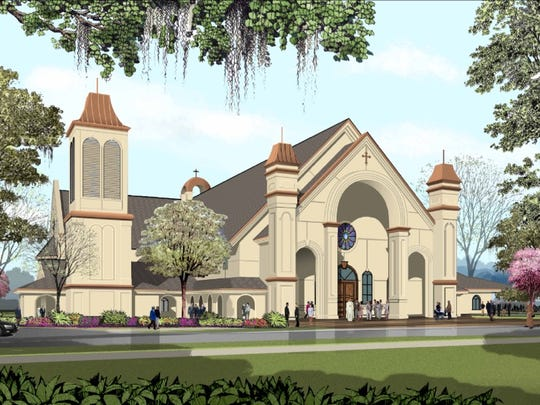 This is an artists' rendering of the new St. Pius X Catholic Church.