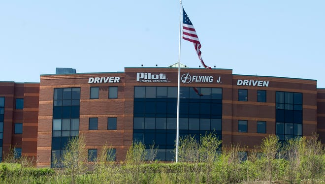 The Pilot Flying J headquarters is seen Monday, April 15, 2013, in Knoxville, Tenn.