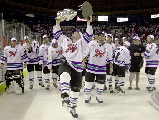 Dan Wildfong won two championships with the Mudbugs.