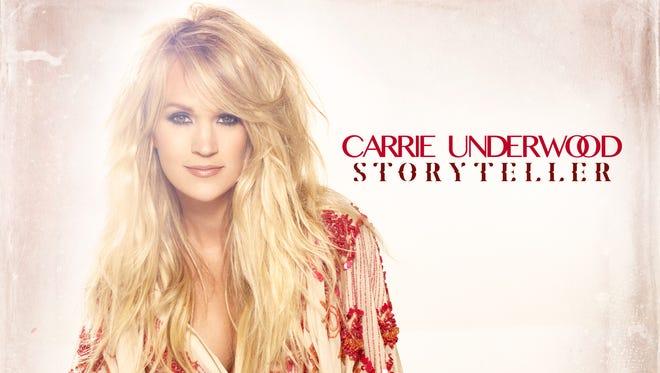"""Carrie Underwood unveiled the art for her new album, """"Storyteller."""""""