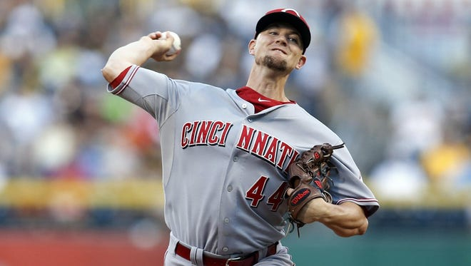 Mike Leake didn't give up a run in seven innings against the Pirates on Friday.