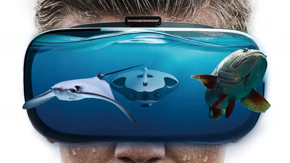 PowerVision is also selling an optional VR headset. However, there's plenty of VR simulations of fish already out there.