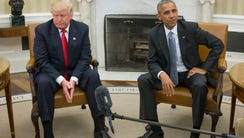 President Obama and then-President-elect Donald Trump