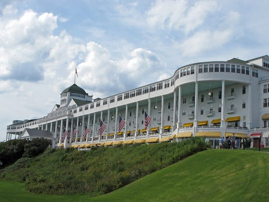 The 386-room Grand Hotel on Mackinac Island, open from early May to late October, is a National Historic Landmark.