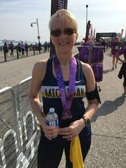 Amy Mingledorff is the Detroit Free Press marathon