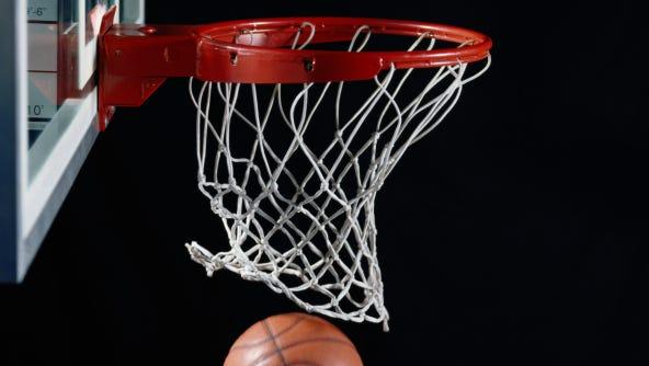 Basketball in Hoop