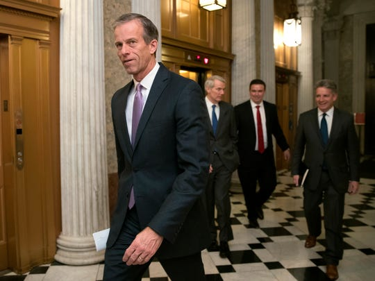 """""""There isn't anything about this that anybody should like,"""" said Sen. John Thune of a $12 billion farm bailout unveiled by President Trump this week."""