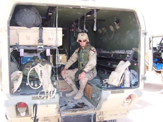 Capt. David Mathias was a doctor for a battalion of the First Cavalry Division in Iraq in 2004.