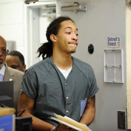 Jayru Campbell arrives at 36th District Court on October 10, 2014.