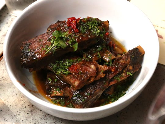 Pork ribs at 273 Kitchen in Harrison, a stop on the