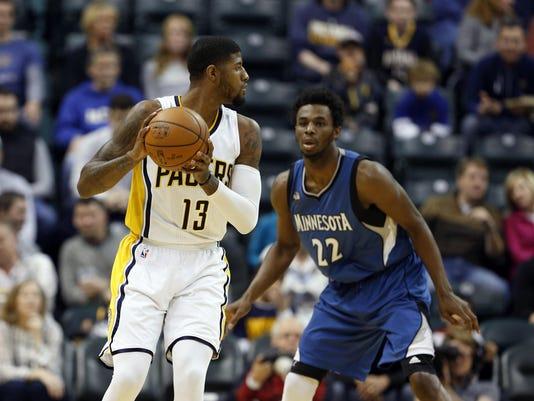 NBA: Minnesota Timberwolves at Indiana Pacers