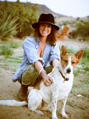 Cannimal founder Erika Valentina Doria and her dog, Eva