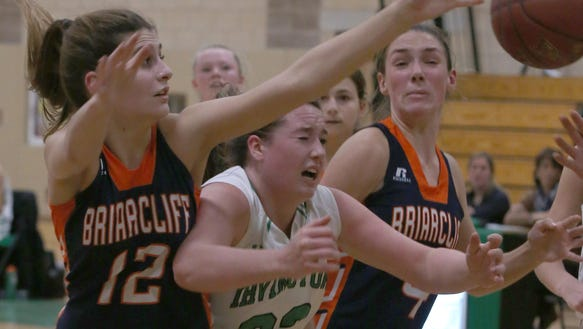Irvington defeats Briarcliff during girls basketball