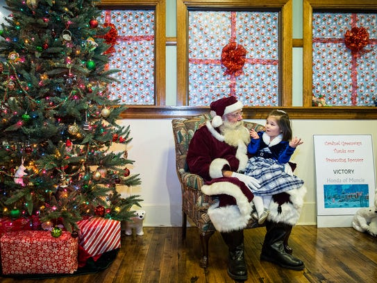 Hundreds of families lined up to meet Santa and receive