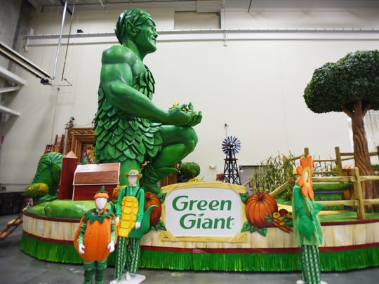 """Harvest in the Valley"" by Green Giant, a new float,"