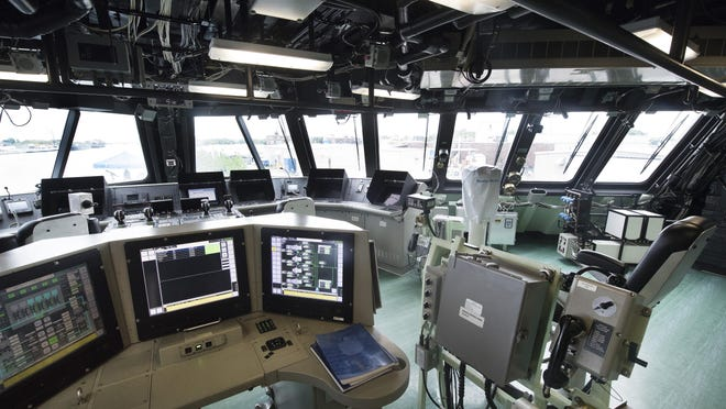 This is the bridge of the USS Detroit.