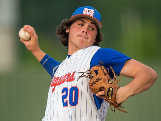Madison Central pitcher Wyatt Blalock delivers against