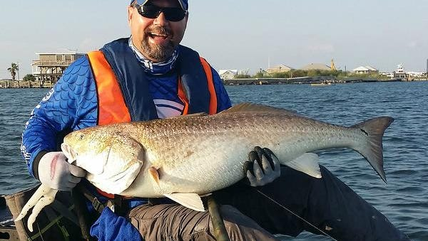Dwayne Walley of Madison took fifth place in last year's Ride the Bull redfish tournament at Grand Isle, Louisiana.
