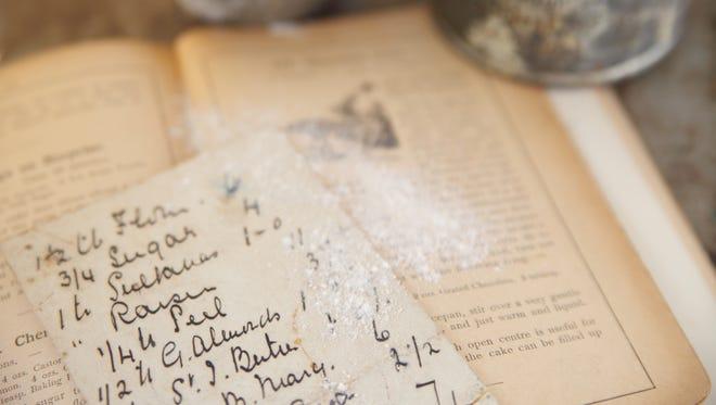 Old handwritten recipe.
