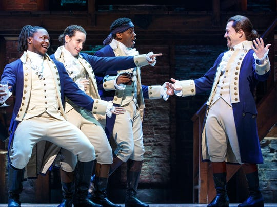 """The hugely popular Broadway musical """"Hamilton"""" will be at the Fox Cities Performing Arts Center in Appleton Oct. 1-20."""