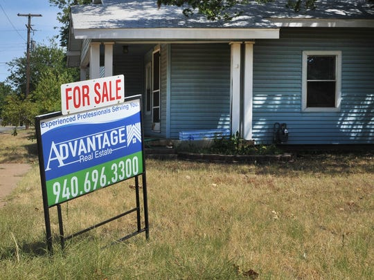 In this file photo, a house in the 1800 block of Tilden is seen for sale. A recent study found Wichita County was the third-best county in Texas to secure a mortgage. Archer County was number one.
