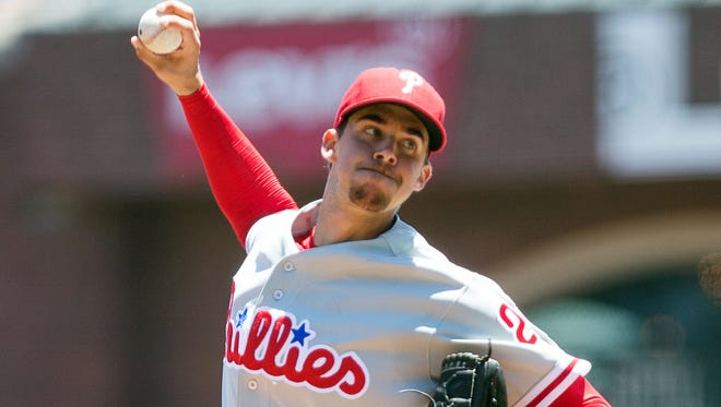 Phillies starting pitcher Aaron Nola will try to rebound after a rough five-start stretch.