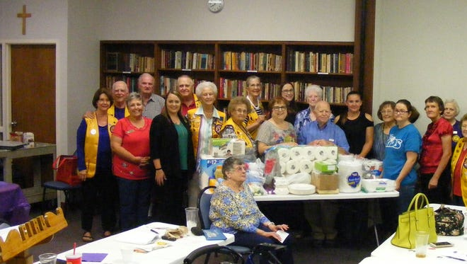 The Concho Pearl Lions Club presented donated supplies to the Justice Home of San Angelo, a transitional home for women leaving incarceration.  Clarice Cox, director of the Justice Home, was the featured speaker at the club's meeting held on September 11, 2017.